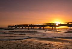 Starburst at Boscombe Pier (Christine down south) Tags: boscombepier sunset beach waves sunburst starburst pier sigmaart18135 livinthedream