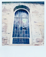 (gryphon1911 [A.Live]) Tags: church architecture polaroid sx70 color film instant sonar