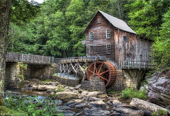 Glade Creek Grist Mill at Babcock State Park, West Virginia (PhotosToArtByMike) Tags: gladecreekgristmill babcockstatepark gladecreek newrivergorge newriver westvirginia wv coopersmillwaterwheel newrivergorgenationalriver southernwestvirginia appalachianmountains nationalparkservice ruins coal formercoalmining logging