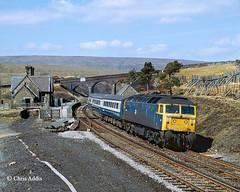 First Diversion Weekend (chrissyMD655) Tags: sc settle carlisle dent class 47 47490 diversion service br blue station fells dentdale north yorkshire