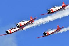 1AA_6077 Aeroshell Aerobatic Team  SNJ-5 Texan US Navy BuNo 51971 N3267G 88-15114 T-6G Texan 51-14791 USAF N791MH 182-478 This T6 T-6F Texan 44-82489 USAAF N7462C 121-43211 AT-6C-NT Texan 42-4072 USAAF N601JF 88-12151 (chris murkin) Tags: snj5 texan us navy buno 51971 n3267g 8815114 t6g 5114791 usaf n791mh 182478 this t6 t6f 4482489 usaaf n7462c 12143211 at6cnt 424072 n601jf 8812151 aeroshellaerobaticteam aeroshell aerobatic team eaa airventure wittman regional airport oshkosh wisconsin usa july 2019 warbird wwii warbirds nikon display d850 takeoff flying plane photo prop planes propblur aircraft airshow airshows air american aeroplane aerobatics military northamerican