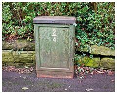Green Box. (Tony Joness) Tags: olympus em1mkii panasonichfs12060 green harrogate box rust dxophotolab3
