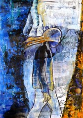 Thoughts (yantrax) Tags: abstract painting art blue potrait people man color artwork