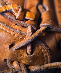 Catcher's mitt (f8shutterbug) Tags: idb macro leather baseball texture 67120 120in2020 catchersmitt