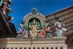 Details of Sri Mariamman temple in Chinatown, Singapore (UweBKK (α 77 on )) Tags: singapore southeast asia sony alpha 77 slt dslr detail culture sculpture color colorful srimariamman sri mariamman hindu temple religion religious chinatown urban city