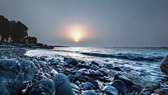 Limassol, Cyprus (daryl nicolet) Tags: cyprus sunrise blue gold red orange rocks beach water mediterranean waves canon 5dm3 eos