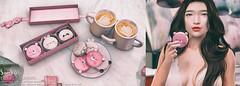 Sari-Sari - Kawaii Macarons (AbbyAnne / Sari-Sari) Tags: sarisari sarisarisl anthem february valentines dessert food sweets decor original mesh bento animation hold pose macaron panda bunny bear gift coffee couple pink holdable prop sl secondlife