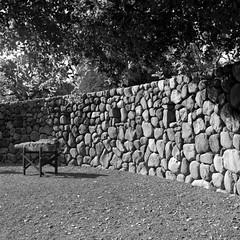 Stonewalling (Scott Holcomb) Tags: refusingcommunication zenzabronicas2 nikkorh135f5cmlens hoya82mmhmcyk2filter kodaktmax400film blackwhite 120film 6x6 mediumformat epsonperfectionv600 photoshopdigitalization