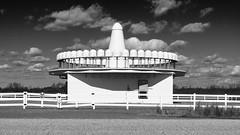 Ground Control (Dysfunctional Photographer) Tags: radar building rural fence monochrome blackwhite pinebluff arkansas 2020 usa nikon z7 nef captureone