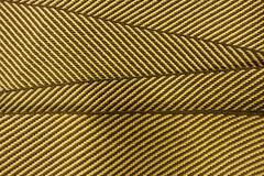 Striped yellow brown guitar strap
