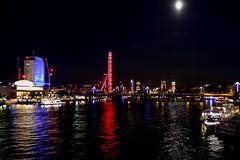 View From A Bridge (andtor) Tags: londoneye london uk greatbritain england thames nightshot waterloobridge