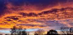 February 1, 2020 - A stunning sunset starts the month. (ThorntonWeather.com)