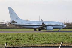 165829 - 2000 build Boeing C-40A Clipper, rolling for departure on Runway 27 at Liverpool (egcc) Tags: 165829 29979 496 5829 829 b737 b737ng boeing boeing737 c40 c40a eggp johnlennonairport lpl lightroom liverpool n1003n speke usnavy unitedstatesnavy