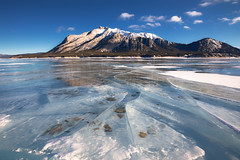 The Frozen Abraham Lake (Ben-ah) Tags: abrahamlake rockymountains canadianrockies lake alberta canada travelphotography winter ice frozenlake