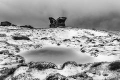 Pym Chair (l4ts) Tags: landscape derbyshire peakdistrict darkpeak edale blackwhite monochrome kinderscout pymchair gritstone gritstonetor snow winter moorland pool