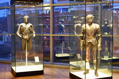Armour Display at Dusk