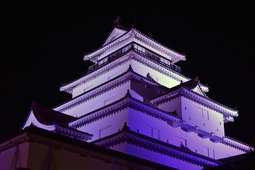 夜の鶴ヶ城