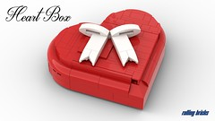 Heart Box - INSTRUCTIONS - (Rolling bricks) Tags: lego instructions legomoc creator expert gift idea valentines day engagement wedding ring holder birthday present