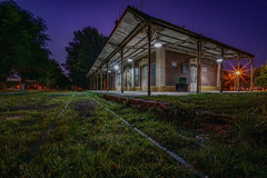 The other side (karinavera) Tags: city longexposure night photography cityscape urban ilcea7m2 sunset villars buenosaires pueblo campo gaucho old field 12mm town trainstation