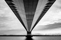 The bridge (Leebobabyjnr) Tags: humberbridge blackandwhite blackwhite bridge suspensionbridge fujix100t