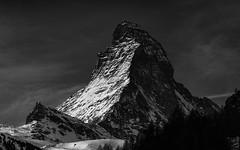 Matterhorn (.christoph.G.) Tags: swiss schweiz winter sony a7rii matterhorn zermatt berge mountain gebirge black white bw schwarz weiss 4478 m ü 14 692ft solvay alps alpen hörnli mountains