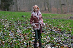 Before the rain came (JL_the_Lion) Tags: beforetheraincame bjd 13 sd doll ausley love 26f classic dollshe craft my roxanne outdoor wood forest winter sheepskin coat leather leggings vikkidollstore etsy