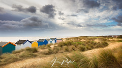 Southwold Dunes [Explored] (Aron Radford Photography) Tags: yellow southwold suffolk beach gun hill hut huts sand coast dune dunes landscape east anglia stormy sky clouds path