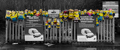 Down at the Dump! (captures.in.time) Tags: minions reduce reuse recycle blackandwhite bnw bandw bw selectivecolour selective affinity dump midlothian edinburgh van rubbish refuse council colour happy grey fun