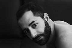 Ήλιος  (Ένα ουράνιο σώμα) # 27 (just.Luc) Tags: portrait beard jung bart young portret barba barbe jong jeune baard man male face naked nude gesicht nu retrato porträt nackt ritratto visage nudo desnudo gezicht naakt bw hot sexy monochrome handsome monotone nb bn uomo attractive mann hombre homme zw monochroom