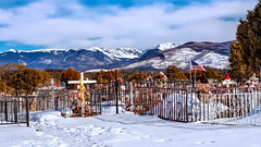 Cemetery with a Heavenly View (LDMcCleary) Tags:
