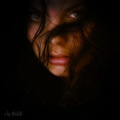 Out of Dark (RickB500) Tags: portrait girl rickb rickb500 model beauty expression face cute hair bestportraitsaoi