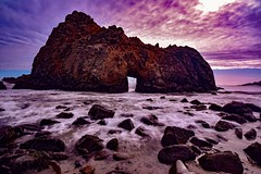 Keyhole at Pfeiffer Beach Big Sur, Ca (davidjnear) Tags: bigsur monterey california coast coastline beach arches keyhole waves clouds rocks