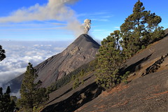 Volcanic scenery (Nicolas Rénac) Tags: volcano volcan fuegovolcano eruption guatemala acatenango fuego vulcan volcanoes nature landscape scenery color colour colorful mountain