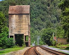Coaling Tower and Sand House, Thurmond, West Virginia (PhotosToArtByMike) Tags: coalloadingstation thurmond thurmondwestvirginia coal coalingtower csxtracks csx sandhouse newrivergorge newriver westvirginia wv fayettecounty newrivergorgenationalriver southernwestvirginia appalachianmountains nationalparkservice ruins formercoalmining logging