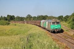 Retour à Laqueuille pour le SMDA (elise_vdbrc) Tags: train railway locomotive fret auvergne sncf clermontferrand massifcentral montdore smda laqueuille bb67400 france marchandises