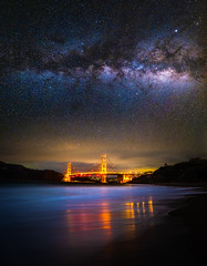 Golden Gate Bridge San Francisco Baker Beach Reflections Milky Way Fuji GFX100 Starry Night Sunset Dusk! McGucken Master Medium Format Fine Art Landscape Nature Photography! Fujifilm GFX 100 & Fujifilm FUJINON GF 23mm F/4 R LM WR Lens GFX Medium Format (45SURF Hero's Odyssey Mythology Landscapes & Godde) Tags: golden gate bridge san francisco beach milky way fuji gfx100 starry night sunset dusk dr elliot mcgucken master medium format fine art landscape nature photography dx4dtic fujifilm gfx 100 fujinon gf 23mm f4 r lm wr lens baker reflections astrometrydotnet:id=nova3912069 astrometrydotnet:status=failed