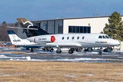 VH-PNY Falcon 20-5 357 KPTK (CanAmJetz) Tags: vhpny falcon 205 kptk ptk bizjet aircraft airplane 357 nikon