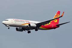 B-1141 Hainan Airlines Boeing 737-84P(WL) at Bangkok Suvarnabhumi Airport on 12 January 2020 (Zone 49 Photography) Tags: aircraft airliner aeroplane january 2020 bangkok thailand vtbs bkk suvarnabhumi airport hu chh hainanairlines hainan airlines boeing737 boeing 737 738 84p wl b1141