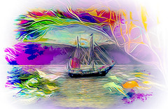 Sailing the South Seas Again (Rusty Russ) Tags: south seas photo painting schooner white vignette rework new improved colorful day digital art graffiti window flickr country bright happy colour eos scenic america world sunset beach water sky red nature blue tree green light sun cloud park landscape summer city yellow people old photoshop google bing yahoo stumbleupon getty national geographic creative composite manipulation hue pinterest blog twitter comons wiki pixel artistic topaz filter on1 tinder russ seidel artist outside tumbler unique