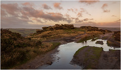 Froggatt Edge. (Ian Emerson (Thanks for all the comments and faves) Tags: froggattedge peakdistrict landscapephotography sunrise derbyshire canon6d canon winter morning hiking outdoor landscape puddle reflection clouds rocks