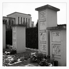 Memento Mori (II) (Maximilian Busl) Tags: blackandwhite rolleicord hof cemetry graveyard contemplation sepia film analog ilford rollei