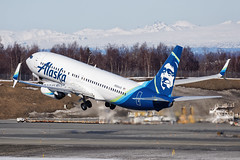 ASA B738 N564AS PANC 25/MAR/18 (Marc Hookerman) Tags: alaskaairlines asa as boeing 737 737800 737890 n564as anchorage alaska airport panc anc