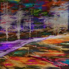 "Through the Trees B (""Jimmer"") Tags: abstract landscape abstractlandscape digitalart digitalpainting surreal awardtree"