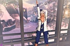 Posing For You (alexandra sunny) Tags: haveunequal belleevent templar lookevent maitreya genus aviglam foxyhair secondlife blog blogger fashion female woman landscape snow pose blue