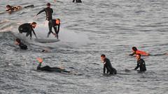 Surfing (Plumeriya2007) Tags: sea sunset people wave telaviv surfing 105
