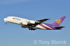 HS-TUF (bwi2muc) Tags: lhr airport airplane aircraft airline plane flying aviation stopping spotter airbus a380 thai thaiairways hstuf staralliance heathrowairport londonheathrow heathrow