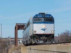 Amtrak Fort Worth, TX (jtrainb) Tags: a821 amtrak bnsf fortworth fortworthsub npcu railroads signal texas bridge