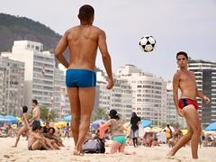Copacabana beach (alobos life) Tags: happy players ball copacabana nice beautiful cute brazilians boys garotos rio de janeiro brasil brazil beach playa sunga colors red