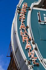 Restaurant (GmanViz) Tags: gmanviz color sonya6000 neon sign lettering columbus ohio