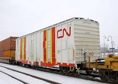 CNIS 412024 (Michael Berry Railfan) Tags: cn canadiannational cn120 dorval montreal kingstonsub winter snow train freighttrain intermodaltrain intermodal stacktrain doublestacks cnis412024 safetyinspectioncar